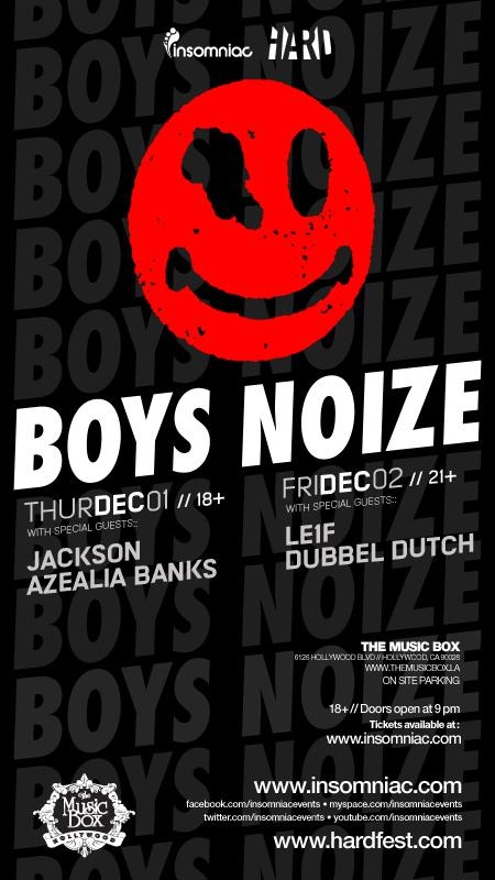 Boys Noize at The Music Box 12-11-11