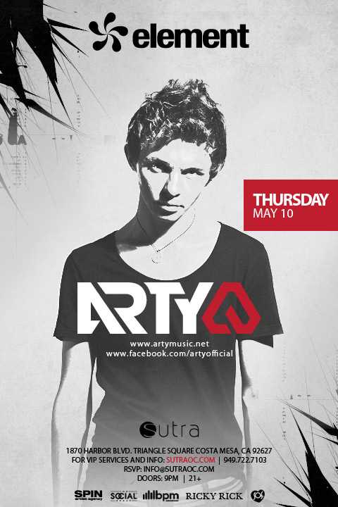 Arty 5-10-12 Sutra Tickets
