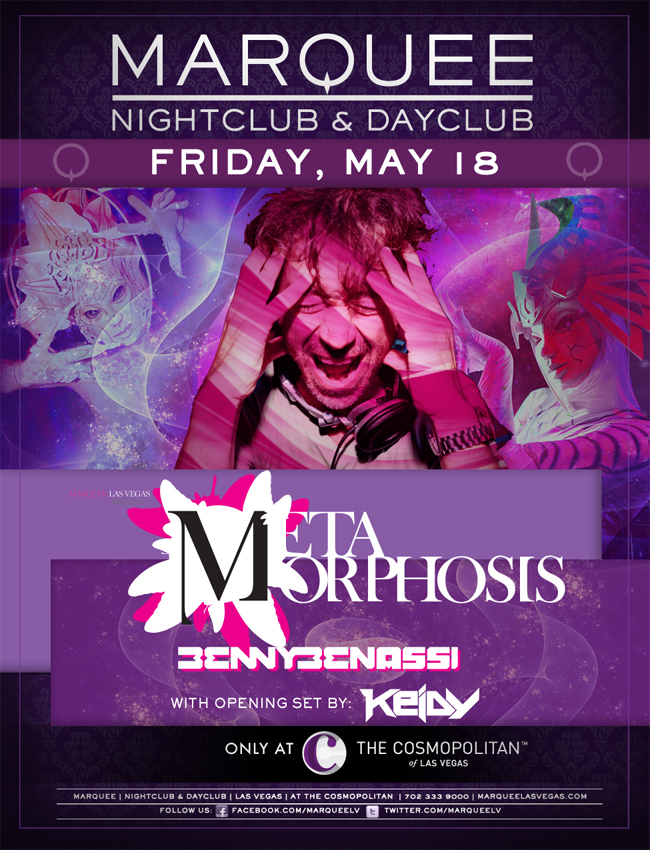Benny Benassi Marquee Nightclub 5-18-12 Tickets