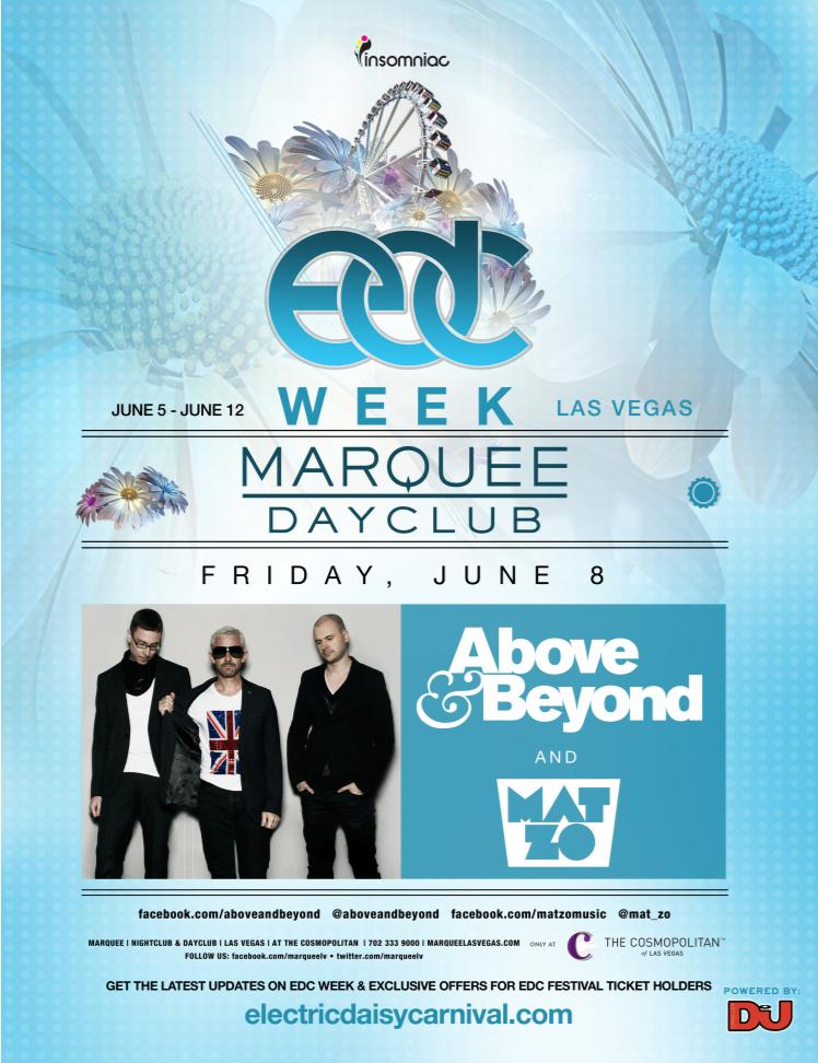 Above & Beyond Marquee 6-8-12 Tickets