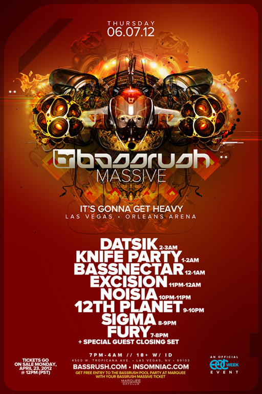 Bassrush Massive 6-7-12 Tickets