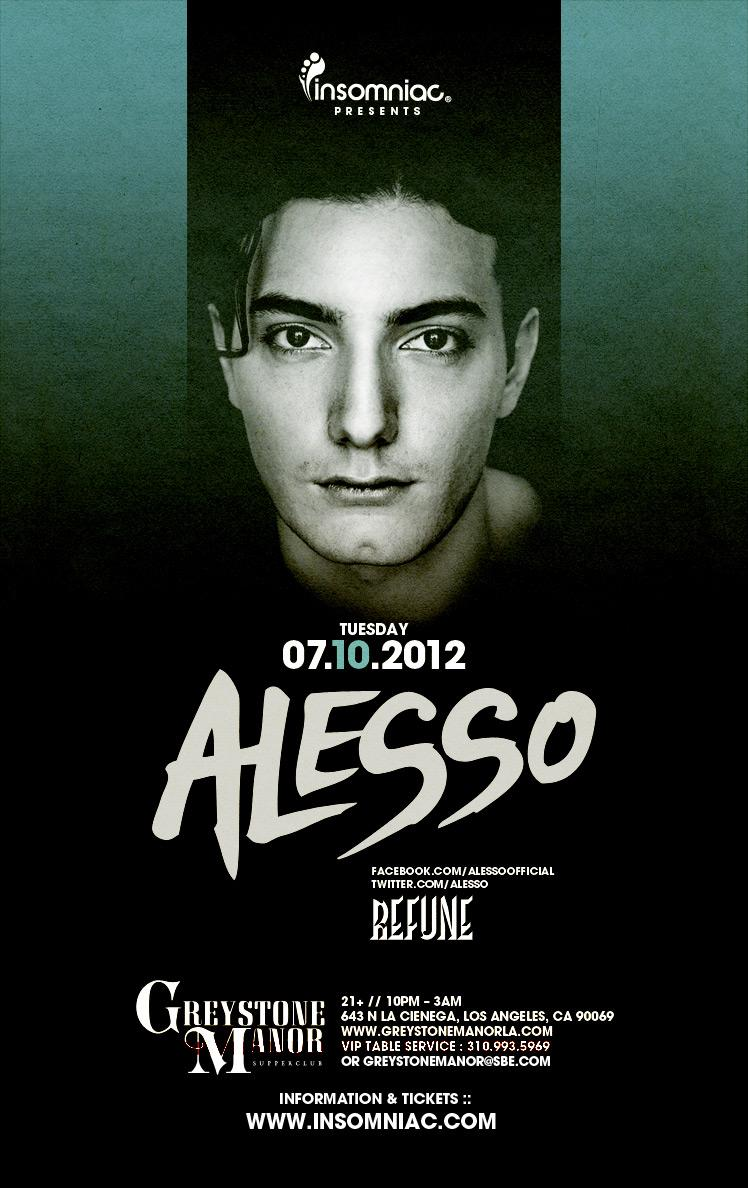 Alesso 7-10-12 Tickets