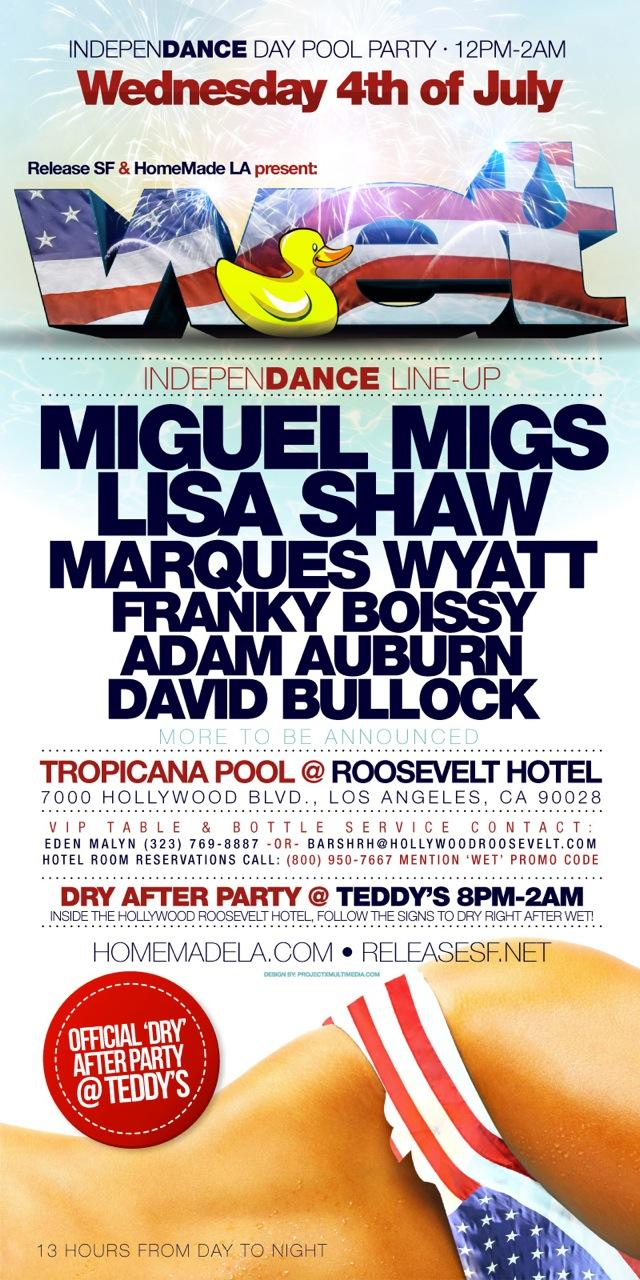 Wet Miguel Migs 7-4-12 Tickets