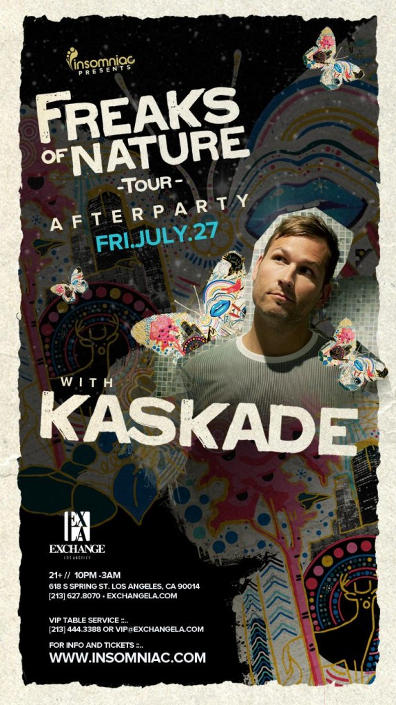Kaskade 7-27-12 After Party at Exchange LA Tickets