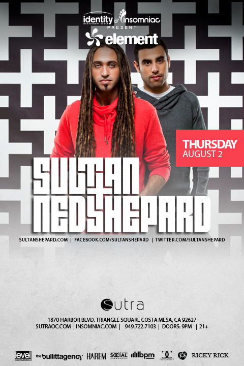 Sultan + Ned Shepard 8-2-12 Tickets