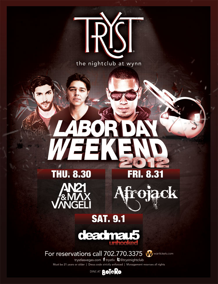 Afrojack 8-31-12 Tickets
