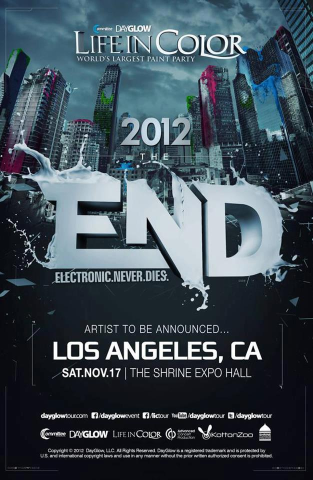 Dayglow 11-17-12 at The Shrine Expo Hall Tickets