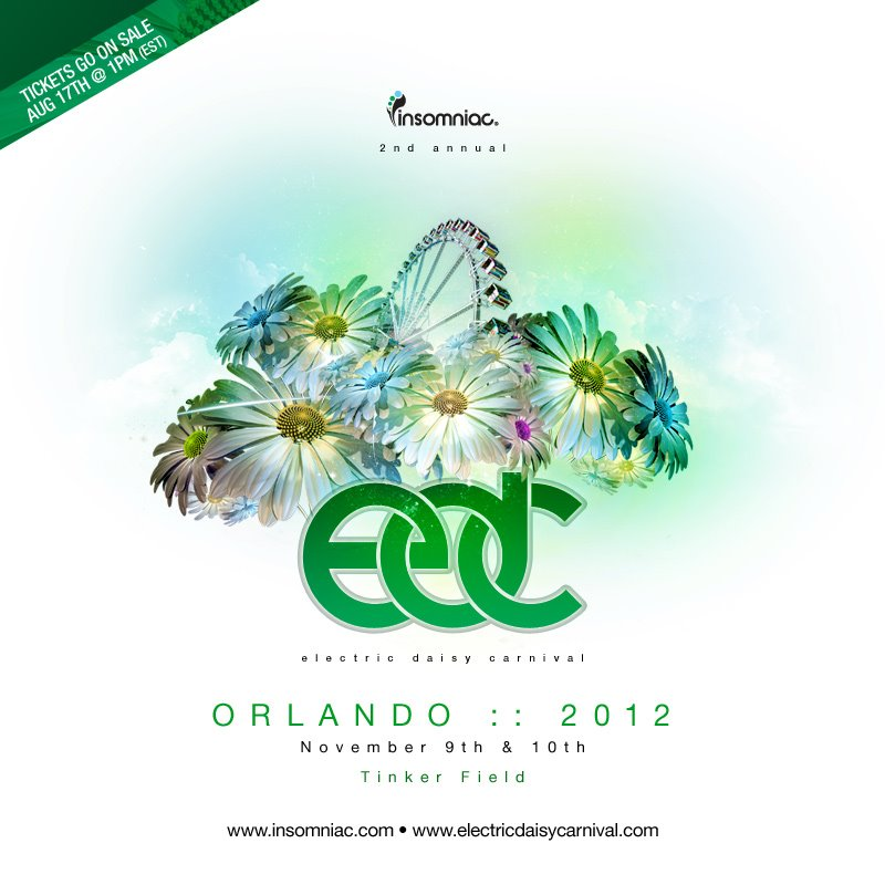 EDC Orlando 2012 Tinker Field 11-9-12 Tickets