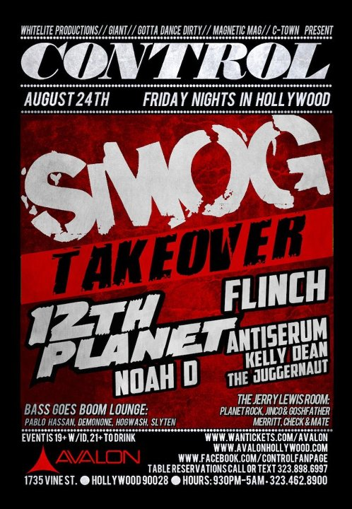 Smog 8-24-12 at Avalon With 12th Planet, Flinch TIckets