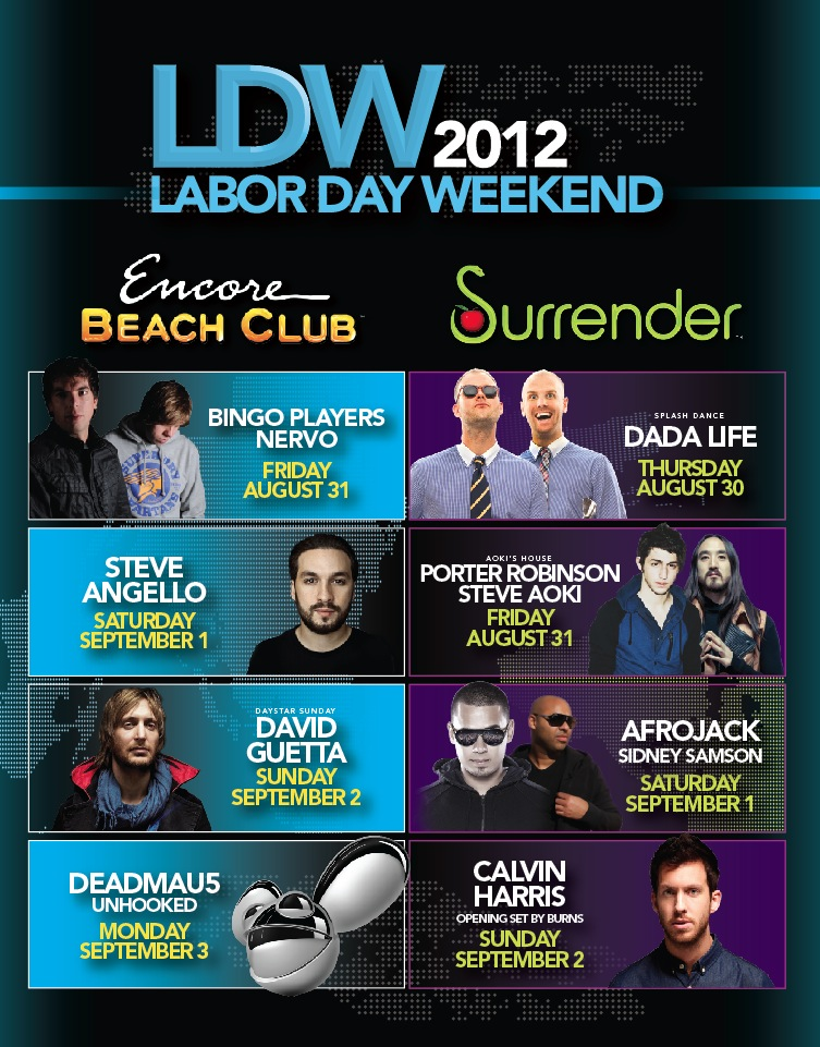 Steve Aoki 8-31-12 Surrender Tickets