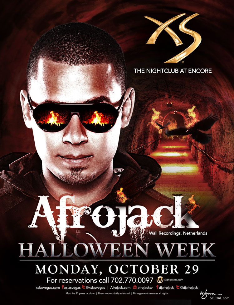 Afrojack at XS 10-29-12 Tickets