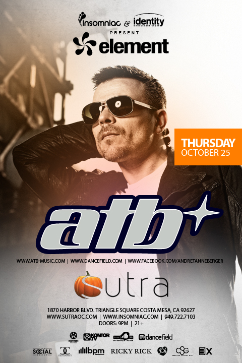 ATB at Sutra 10-25-12 Tickets