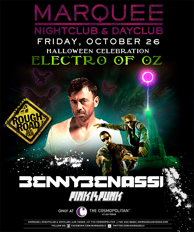 Benny Benassi at Marquee 10-26-12 Halloween Weekend Tickets