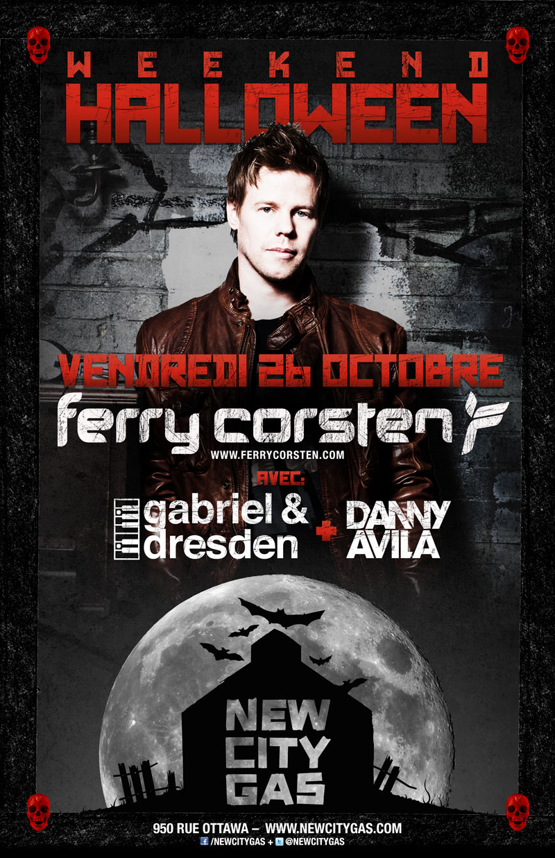 Ferry Corsten and Gabriel & Dresden at New City Gas 10-26-12 Tickets
