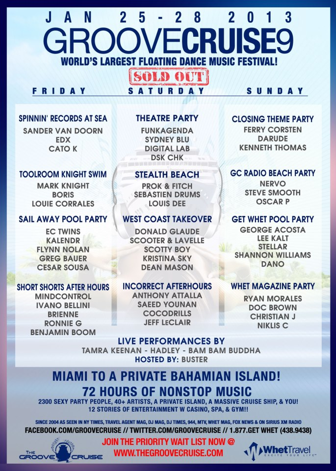 Groove Cruise 2012 Lineup & Tickets