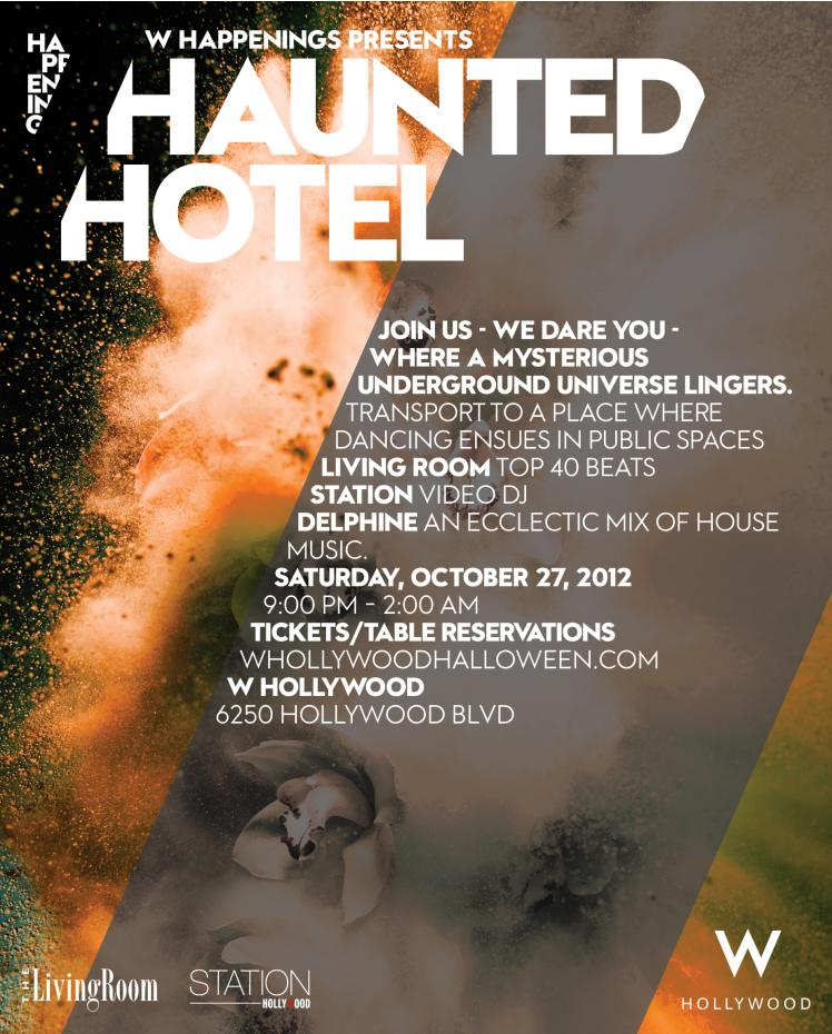 Haunted Hotel at W Hollywood 10-27-12 Tickets