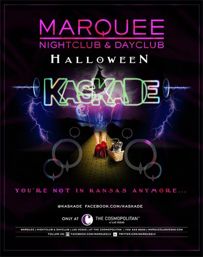 Kaskade at Marquee 10-31-12 Halloween Night Tickets