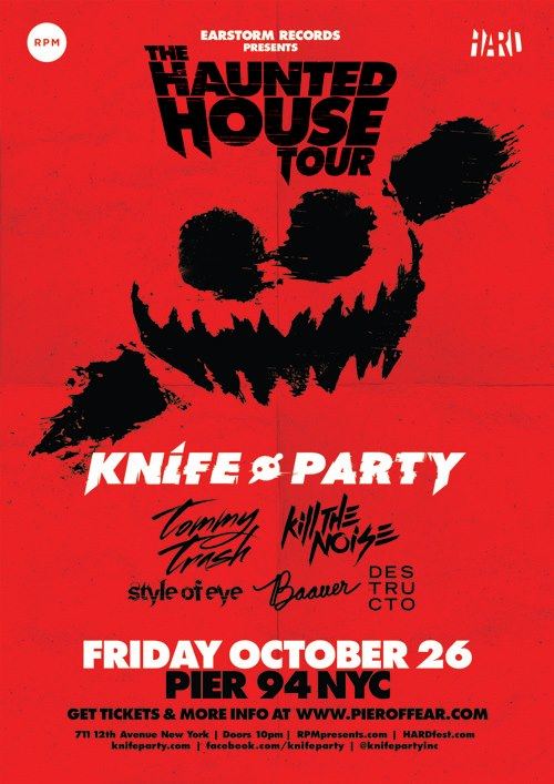 Knife Party, Tommy Trash, Kill the Noise at Pier 94 10-26-12 Tickets