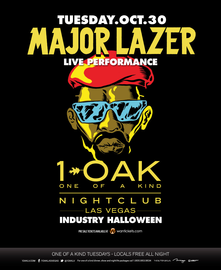Major Lazer at 1 OAK 10-30-12 Tickets