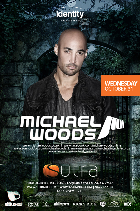 Michael Woods at Sutra 10-31-12 Halloween Night Tickets