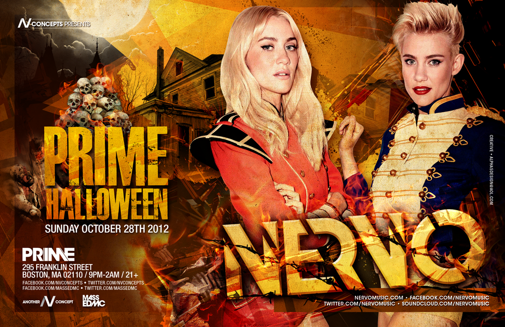 Nervo at Prime 10-28-12 Tickets