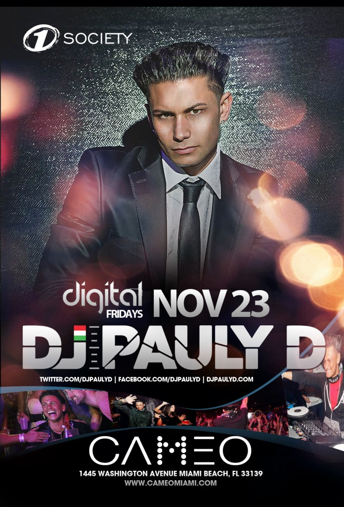 Pauly D at Cameo 10-23-12 Tickets