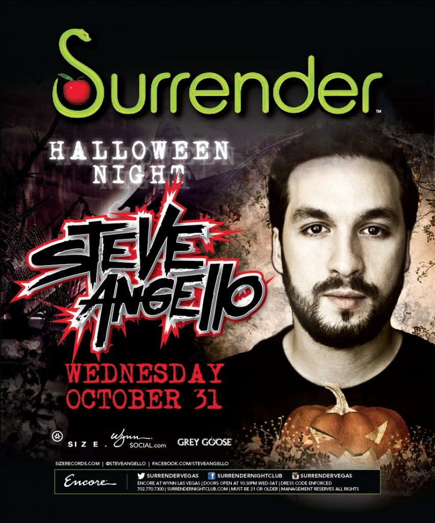 Steve Angello at Surrender Las Vegas 10-13-12
