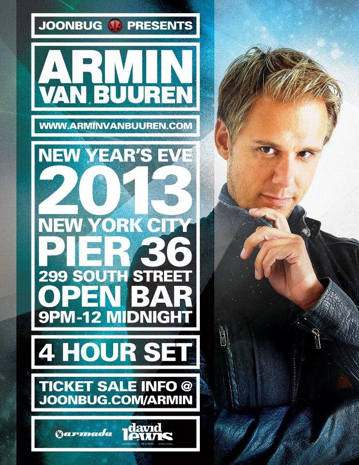 Armin van Buuren NYE 2013 at Pier 36 12-31-12 Tickets