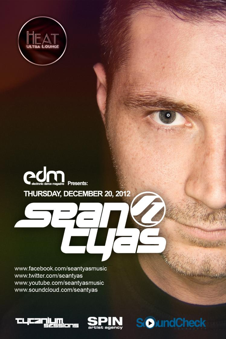 Sean Tyas at Heat Ultra Lounge 12-20-12 Tickets