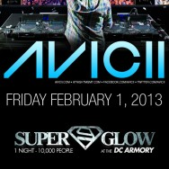 AVICII: Super Glow at DC Armory Tickets 2-1-13