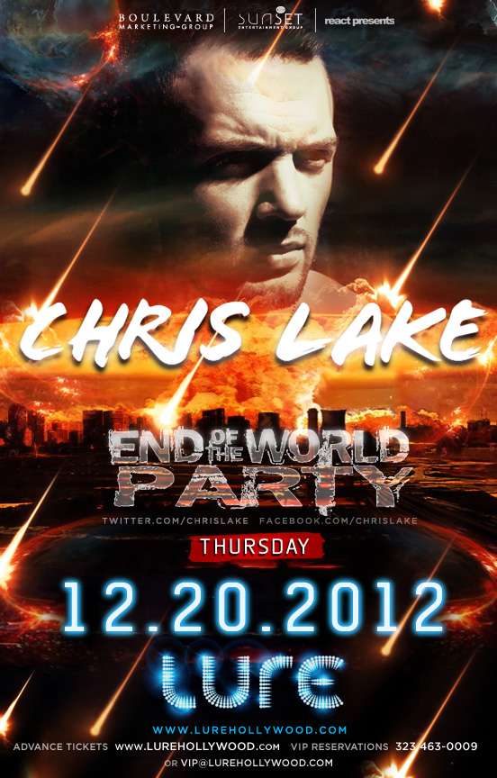 Chris Lake End of the World Party at Lure 12-20-12 Tickets