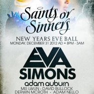 NYE at The Hollywood Roosevelt Hotel Tickets 12-31-12 w/ Eva Simons & Adam Auburn