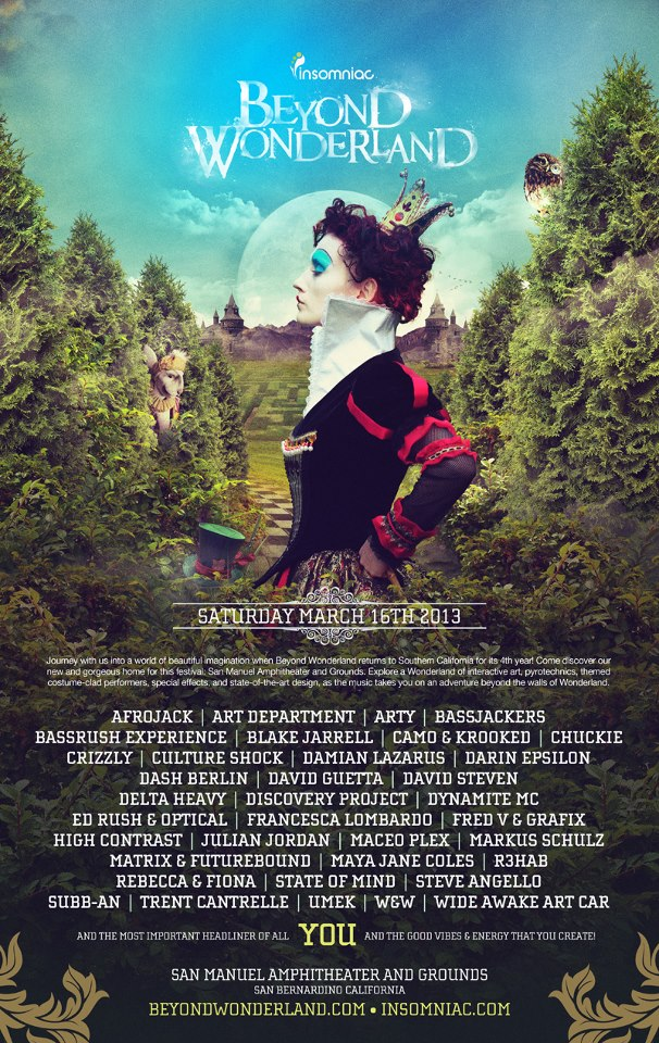 Beyond Wonderland 2013 Lineup & Tickets