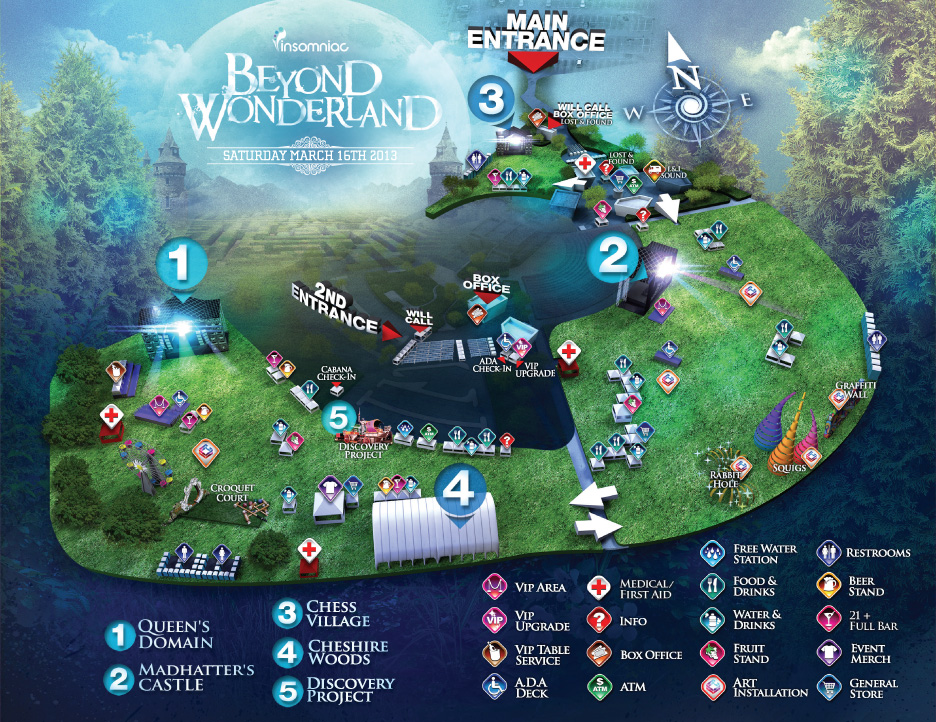 Beyond Wonderland 2013 Map & Info