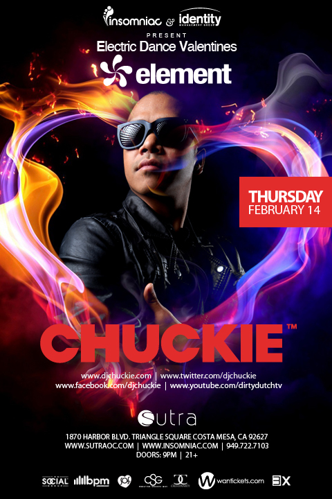 Chuckie at Sutra Tickets 02-14-13 by Insomniac