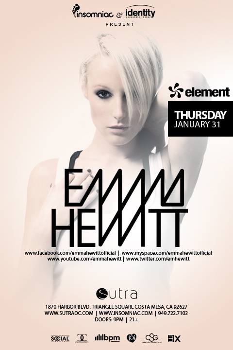 Emma Hewitt at Sutra Tickets 01-31-13 by Insomniac