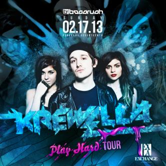 Krewella at Exchange LA 2-17-13 Tickets