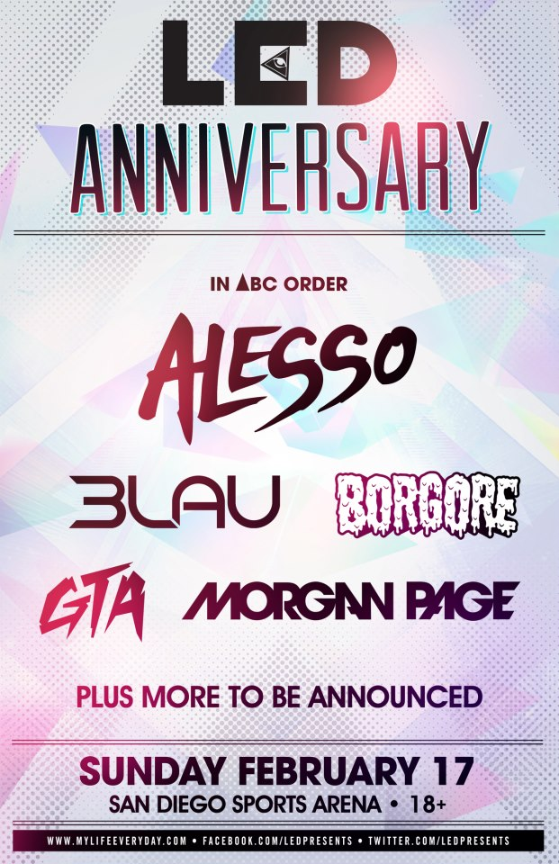 LED Anniversary 2013 at The San Diego Sports Arena 2-17-13 Tickets