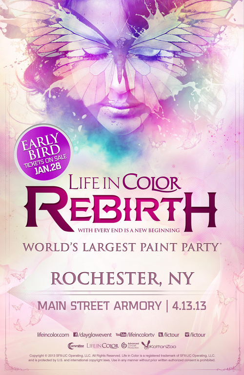 Life in Color 2013 Rochester, NY 4-13-13 at Main Street Armory Tickets