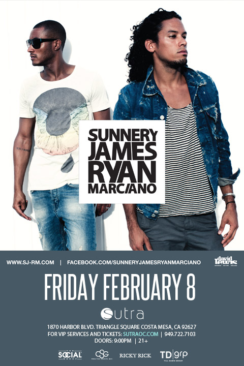 Sunnery James & Ryan Marciano at Sutra 2-8-13 Tickets