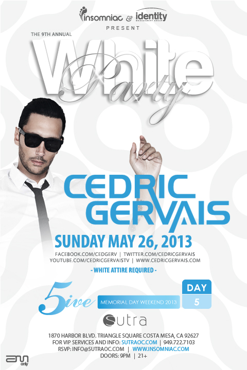 Cedric Gervais at Sutra MDW May 26 Tickets