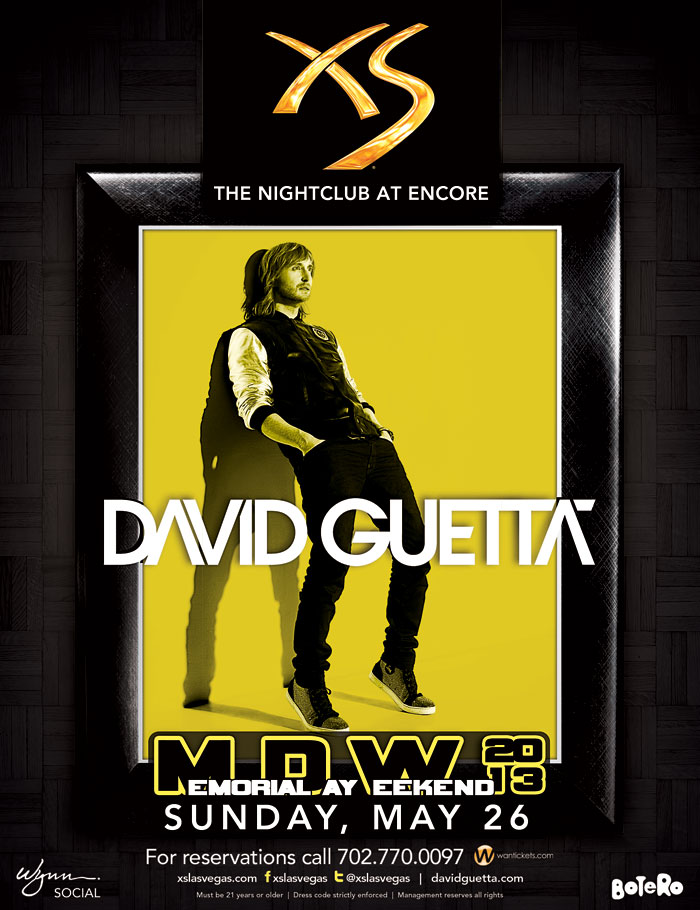 David Guetta at XS Nightclub MDW May 26 Tickets