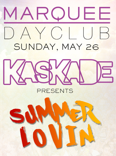 Kaskade at Marquee Dayclub MDW May 26 Tickets