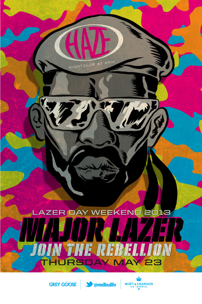 Major Lazer at Haze Nightclub May 23rd, 2013 Tickets