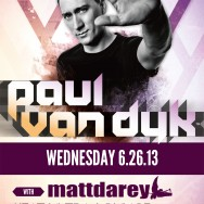 Paul van Dyk at Heat Ultra Lounge Tickets June 26th, 2013 w/ Matt Darey