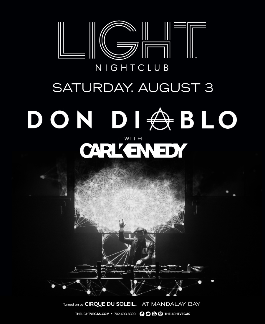 Don Diablo with Carl Kennedy at Lightclub 8/3 Tickets